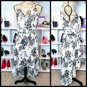 Charming Charlie Blouson High Low Dress White